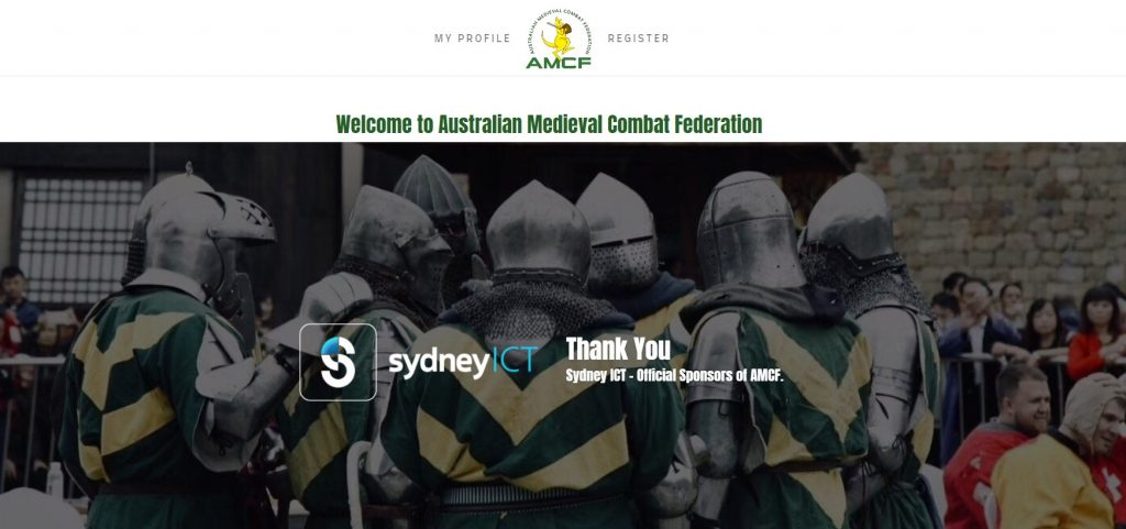 AMCF Website, hosted by Sydney ICT